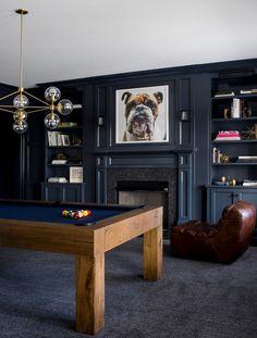 💚 84 inspirational billiards or game room models 49 Billard Bar, Billard Design, Game Room Bar, Game Room Decor, Arcade Game Room, Playroom Decor, Home Entertainment, Billards Room, Den Room