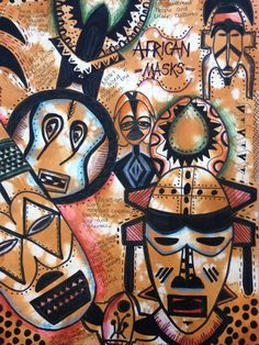 Textiles Sketchbook, Gcse Art Sketchbook, Sketchbook Ideas, Biro Drawing, Mask Drawing, Congo, African Art Projects, Africa Art, African Textiles