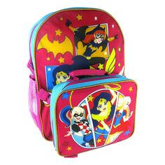 DC Trios Wonder Woman Super Hero Girls BACKPACK detachable lunch bag 16  inches  DCCOMICS   875c6732ac