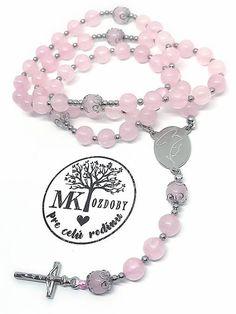 Ruženec ruženín s nerezovou oceľou / MK-ozdoby - SAShE.sk Charmed, Bracelets, Jewelry, Charm Bracelets, Jewellery Making, Jewlery, Arm Bracelets, Bangles, Jewelery