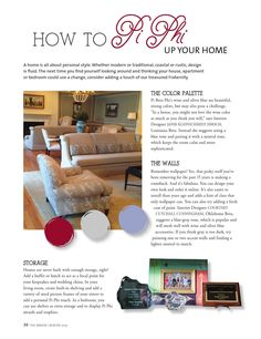 This issue of The Arrow talks all about how to Pi Phi up your home! Read on for some tips!