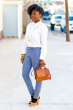 Love this entire look! Especially the socks + heels ;) #HUEGotTheLook