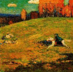 'Le cavalier bleu', huile de Wassily Kandinsky (1866-1944, Russia)