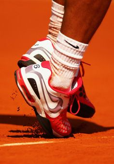 Rafa's Air Max CourtBallistec 4.3 shoes by Nike #Nadal, French Open 2012
