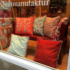 Quiltmanufaktur, Stoffgeschäft Frankfurt am Main, Schaufenster Februar 2015