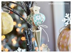 Happy Holidays everyone! Paper Christmas Ornaments, Christmas Diy, Christmas Bulbs, Fun Crafts, Paper Crafts, Svg Cuts, Winter Wonderland, Happy Holidays, Holiday Decor