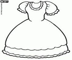 Resultado de imagem para desenho vestido para colorir