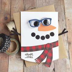 """Paper Smooches - Kim Hughes on Instagram: """"Is it hot where you are? Maybe a little snow will help cool you off. @jilldhawkins created this cool dude using the Snowman card dies,…"""" 1st Grade Crafts, Holiday Cards, Christmas Cards, Snowman Cards, Black Tree, Paper Smooches, Handmade Birthday Cards, Handmade Cards, Stampin Up Christmas"""