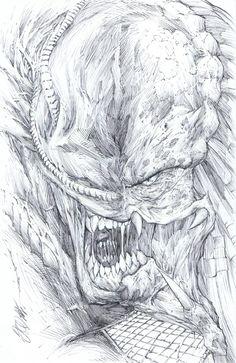 Alien VS Predator by Shelby Robertson Comic Art