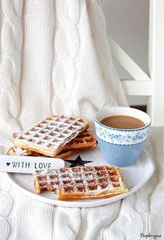 Joghurt Zimt Waffeln - perfektes Sonntagsfrühstsück!