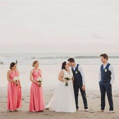 What a stunning Bali beach wedding congrats to beautiful bride @em__rogers 👰🏼 and her bridal party all looking absolutely amazing in the gorgeous Coral Kiss colour of their Goddess By Nature signature ballgowns 💕 www.goddessbynature.com #goddessbynature #goddessbynaturebridalparty #baliwedding #balibeach #beachwedding #baliweddings #bride #beachbride #destinationwedding #bridal #weddinggown #weddingdress #bridalgown #bridesmaids #bridalparty #bridesmaiddresses #bridesmaiddress…