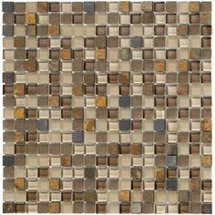 "Crystal Stone II 5/8"" x 5/8"" - Terracotta Mosaic By SouthCypress.com"