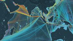 Commercial shipping movements based on hundreds of millions of data points from 2012