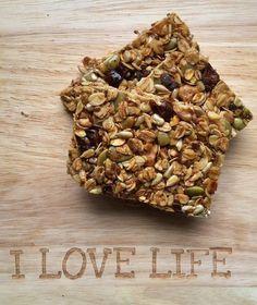 Batony owsiane* – I LOVE LIFE Granola, Healthy Recipes, Eat, Breakfast, Fitness, Food, Morning Coffee, Essen, Healthy Eating Recipes