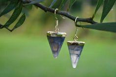 Aretes pendulos cuarzo morado