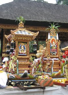 Shrine, Holy Spring Temple - Tirta Empul, Tampaksiring, Bali, Indonesia