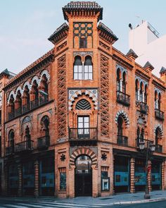 Building in Seville, Spain Brick Architecture, Architecture Student, Historical Architecture, Amazing Architecture, Seville Spain, Andalusia Spain, Andalucia, Places Around The World, Around The Worlds