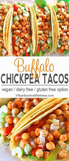 """Buffalo Chickpea Tacos 