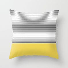 MINIMAL Green Stripes Throw Pillow by Allyson Johnson   Society6