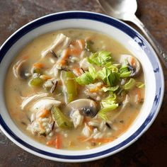 Wild Rice and Chicken Soup