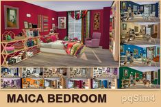 Lana CC Finds - Bedroom Maica by pqSim4