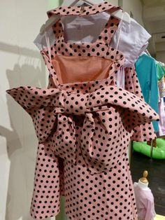 Bow back dress variation in spring 2014's favourite pink shade polka dots for girlswear from Sierra Julian