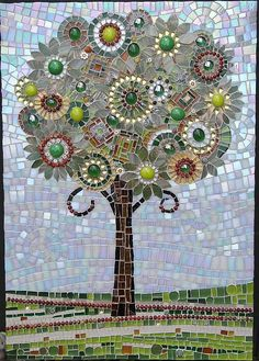 Bespoke hand-crafted glass and ceramic mosaics Paper Mosaic, Mosaic Tile Art, Mosaic Artwork, Mosaic Diy, Mosaic Crafts, Mosaic Projects, Mosaic Ideas, Mosaic Mirrors, Art Projects