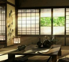 Tea in Japan !!!! (shrine living quarter)