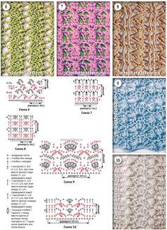 Page №20 με μοτίβα για να βελονάκι.