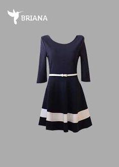 un #casual y #coqueto #vestido #azul marino en #corte A