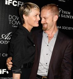 Marital announcement: Robin Wright, 47, and Ben Foster, 33, are engaged, it was reported on Thursday