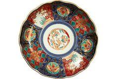 19th-C Imari Dish..brought back many old Imari plates and bowls from Japan
