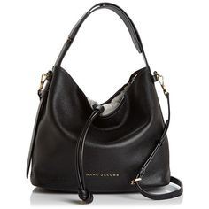 Marc Jacobs Road Leather Hobo (2.280 RON) ❤ liked on Polyvore featuring bags, handbags, shoulder bags, leather hobo shoulder bags, marc jacobs shoulder bag, leather shoulder handbags, real leather purses and genuine leather handbags
