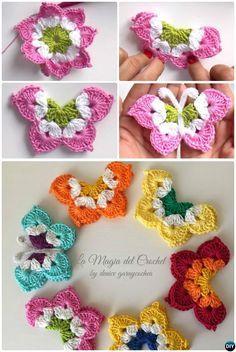 La Magia #Crochet Butterfly Free Pattern
