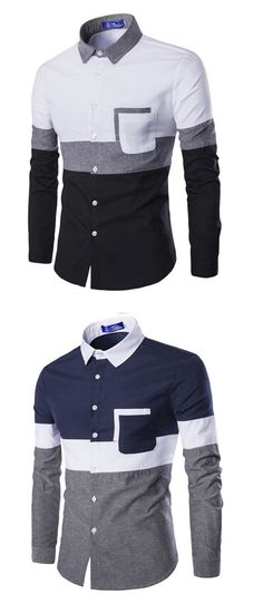 8cc56f064a Men s Going out Casual Daily Simple Spring Fall Shirt Cheap Mens Shirts