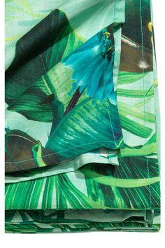 Tovaglia fantasia - Verde menta/fiori - HOME | H&M IT