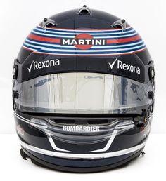 Lance Stroll - Williams - 2017 F1 2017, Racing Helmets, Helmet Design, Martini, Garage, Bike, Pictures, Formula 1, Carport Garage