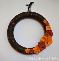 Cozy Fall Yarn Wreath - A Pretty Life In The Suburbs