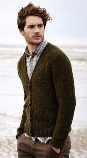 Rowan Brushed Fleece Book | Men's Cardigan