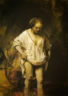 Rembrandt van Rijn - A Woman bathing in a Stream, 1654 at The National Gallery London England by mbell1975, via Flickr