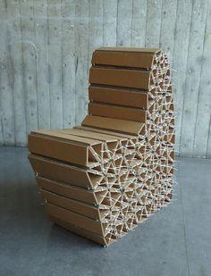 Caterpillar Chair by Wiktoria Szawiel, via Behance