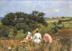 American Impressionist Paintings   William Merritt Chase's radiant Shinnecock landscape The Fairy Tale ...
