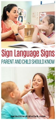 Twin Cities Kids Club Blogs: Sign Language Signs Every Parent and Child Should Know - Signing has become a massive asset to our family in multiple ways. Even our parents have learned to sign. Our knowledge has reached much farther than communicating to our child. In the past, my spouse and I had signed to one another through the window when he was doing yard work. #signs #signslanguage #signslanguagelearning #kids #games #fungames #indoorgames #kids #kidsactivities #gameday