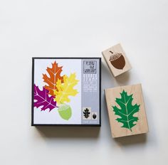 Yellow Owl Workshop: Oak Leaf Acorn Stamp Set