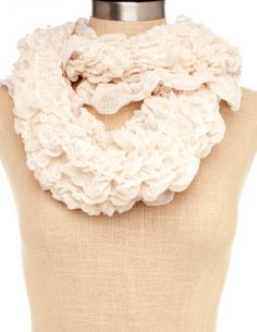 All-Ruched Infinity Scarf