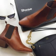 "Dune London Chestnut Pointed Chelsea Boots Details: • Size 8 • Distressed chestnut leather with black elastic  • 1"" heel • Brand new in box, box has some wear   11091501 Dune London Shoes Ankle Boots & Booties"