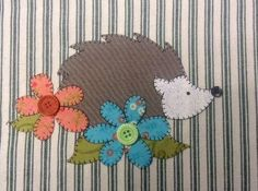 Looking for a quilting pattern for your next project? Look no further than Hedgie the Hedgehog Applique Pattern from Quilt Doodle! - via @Craftsy