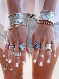 Beautiful Silver Motif Jewellery   Stack your bangles, bracelets & rings