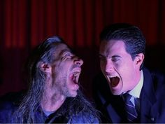 Agent Dale Cooper and the demon Bob.  Twin Peaks
