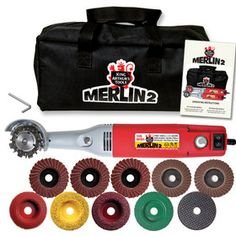 Merlin Miniature wood carving kit will carve wood quickly and safely.